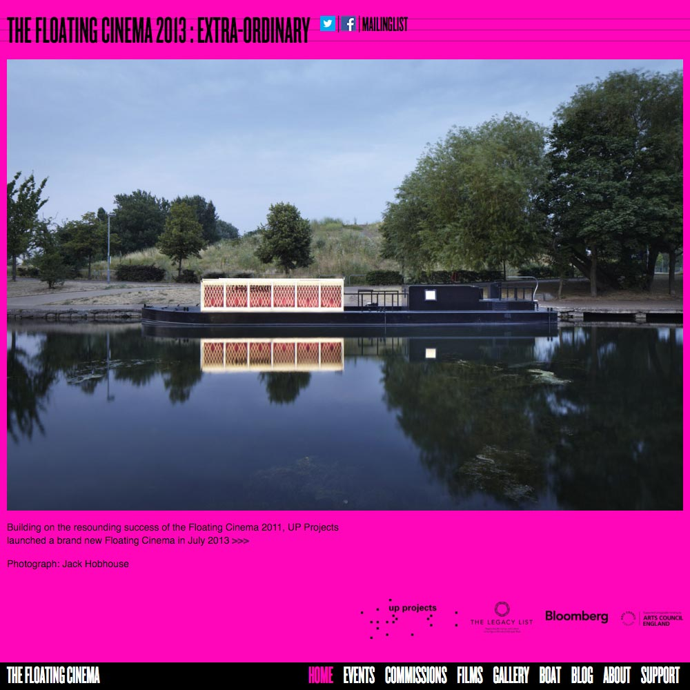 The Floating Cinema, 2013, Home