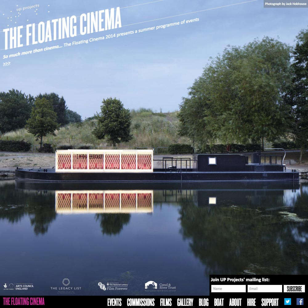 The Floating Cinema, 2014, Home