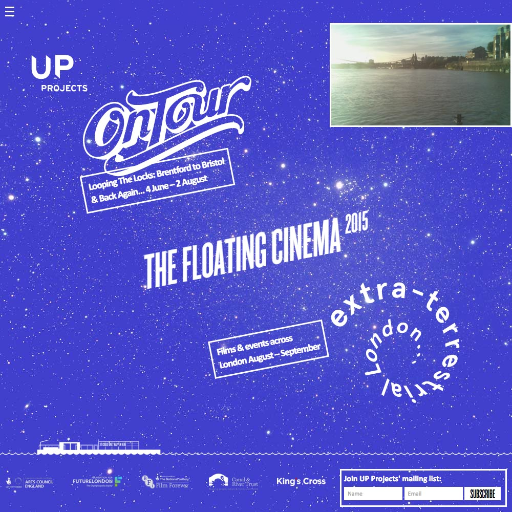 The Floating Cinema, 2015, Home