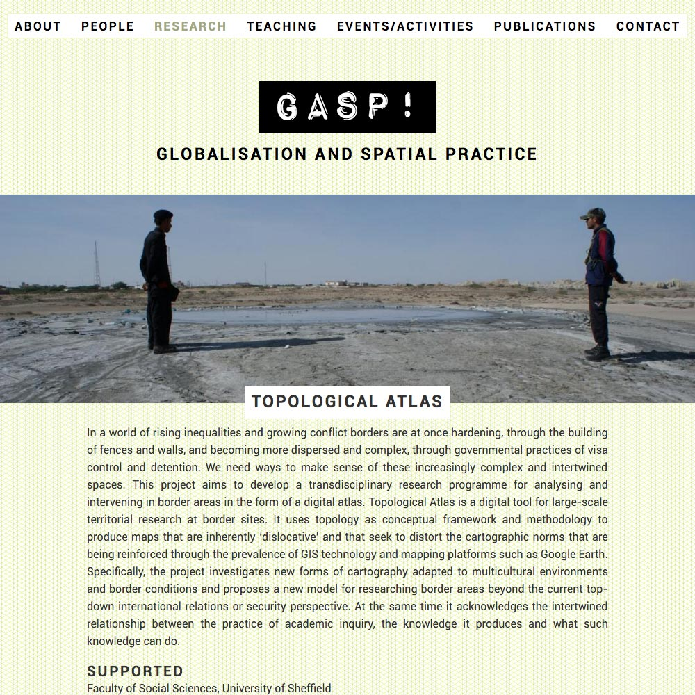 Globalisation and Spatial Practise, Project, 2016