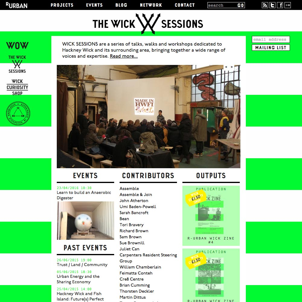 wicksessions.net home page