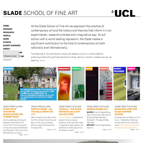 Slade School of Fine Art Home Page