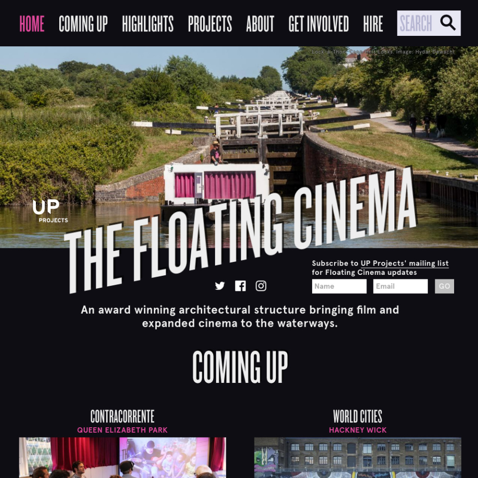The Floating Cinema Website